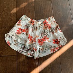 Floral Book Boom Lace Shorts